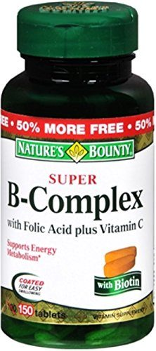 Natures-Bounty-B-Complex-with-Folic-Acid-Plus-Vitamin-C-Tablets-150-ea-0